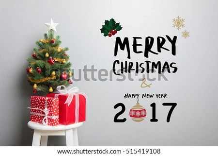 Gift Boxes Small Decorated Christmas Tree Stock Photo 515885566 - small decorative christmas trees