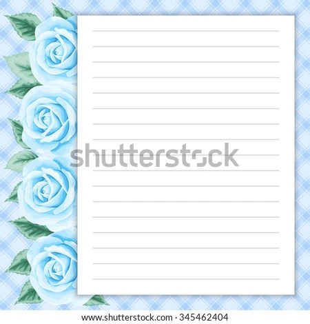 Lined Page Notes Design Retro Style Stock Vector 345462857 - lined page