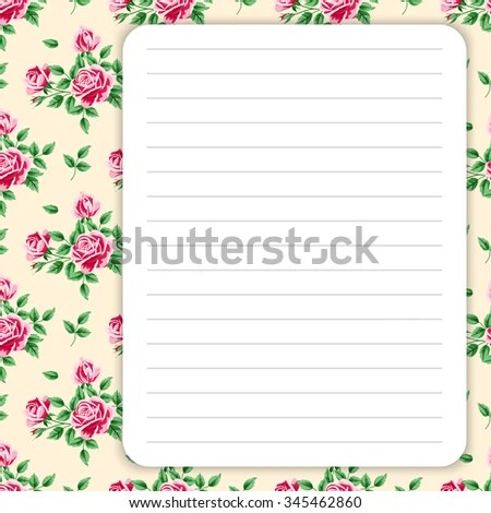 Lined Page Notes Design Retro Style Stock Photo (Photo, Vector - lined page
