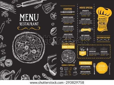 Restaurant Menu Stock Images, Royalty-Free Images \ Vectors - sample chalkboard menu template