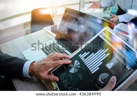 Businessman Making Presentation His Colleagues Business Stock Photo