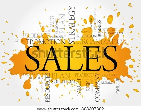 SALES Word Cloud Business Concept Stock Vector (Royalty Free - sales word
