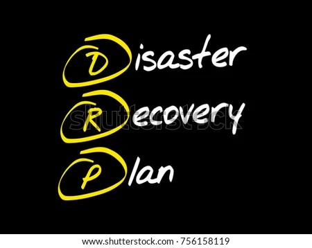 DRP Disaster Recovery Plan Acronym Business Stock Illustration