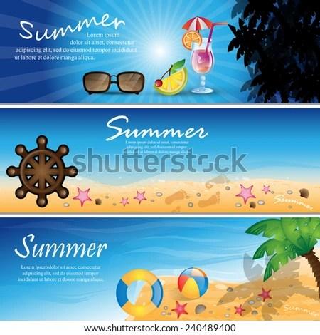 Summer Flyer Template Vector Illustration Graphic Stock Vector - summer flyer template