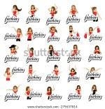 Fashion Women Isolated White Background Vector Illustration