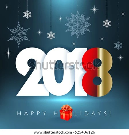 New 2018 Year Happy Holidays Background Stock Vector (Royalty Free