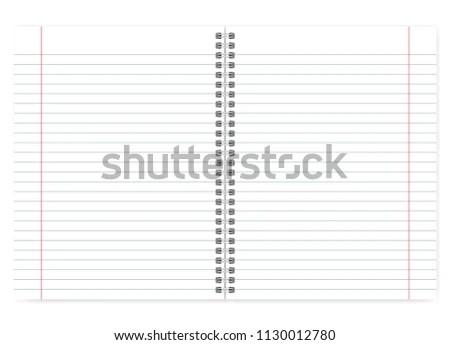 Open Letter Format Notebook Vector Mock Stock Vector (Royalty Free
