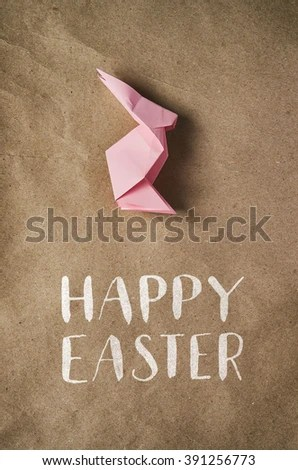 Happy Easter Hand Drawn Pink Bunny Stock Photo 391256773 - Shutterstock