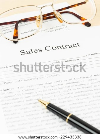 Sales Contract Stock Images, Royalty-Free Images \ Vectors - sales contract