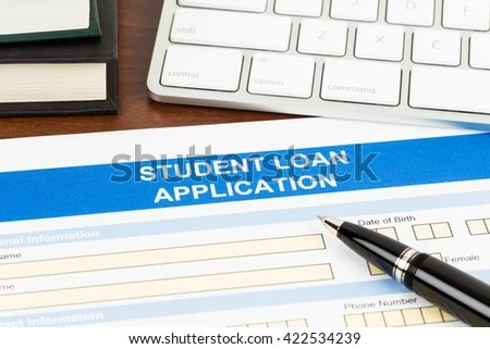 Student Loan Application Form Pen Keyboard Stock Photo 422534239 - students loan application form