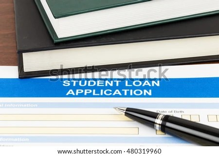 Student Loan Application Form Pen Text Stock Photo 480319960 - students loan application form