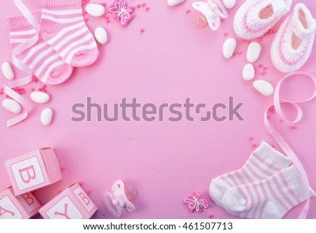 Girl Pink Theme Baby Shower Nursery Stock Photo (Download Now