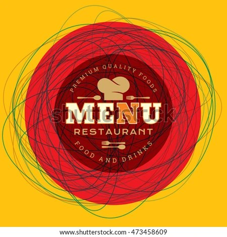 Restaurant Menu Card Design Template Creative Stock Vector (Royalty
