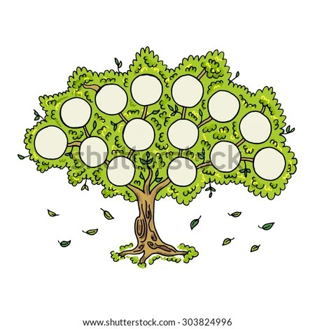 Family Tree On White Background Frames Stock Vector (Royalty Free