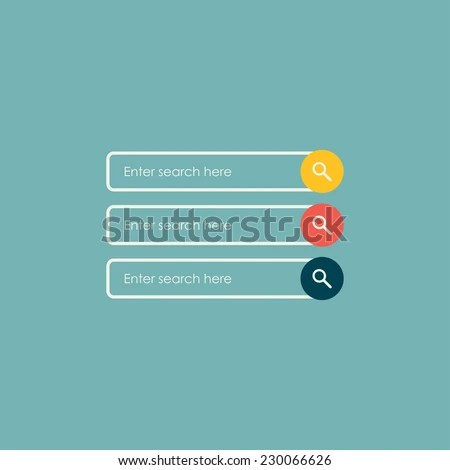 Search Bars Flat Web Design Elements Stock Vector 230066626
