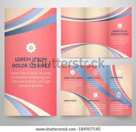 Professional Three Fold Business Flyer Template Stock Vector HD