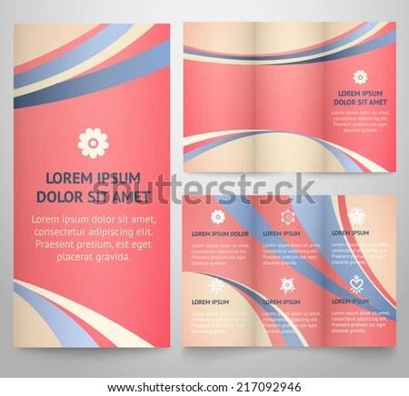Professional Three Fold Business Flyer Template Stock Illustration - retro brochure template