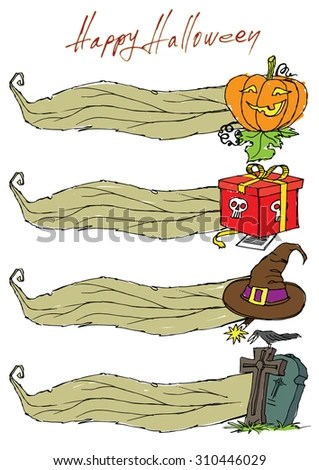 Templates Banners Menus Theme Halloween Stock Vector 310446029