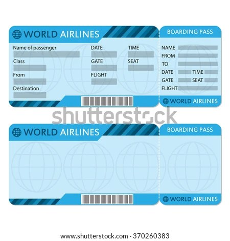 Airline Plane Ticket Template Boarding Pass Stock Photo (Photo - airplane ticket template