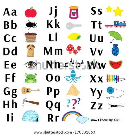 Abc Letter Chart Stock Photo (Photo, Vector, Illustration) 170331863