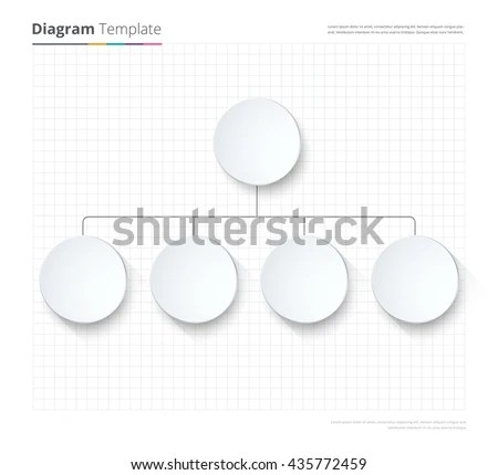 Diagram Template Organization Chart Template Flow Stock Vector - color chart template