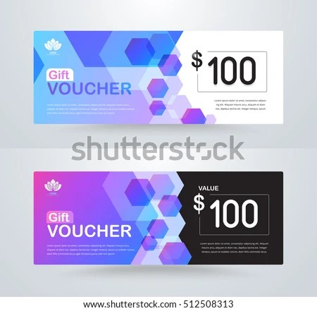 Corporate Gift Voucher Template Luxury Gift Stock Photo (Photo - cupon template