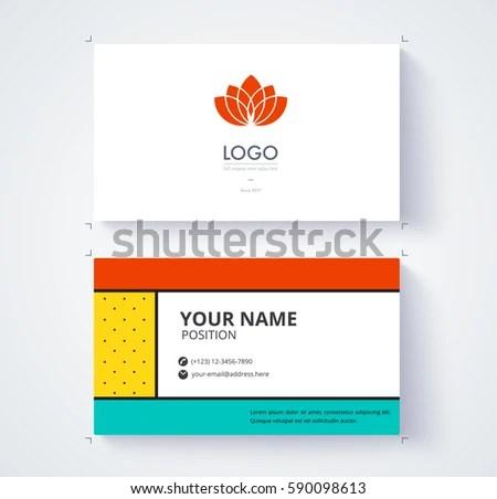 Business Card Template Example Logo Text Stock Vector 590098613