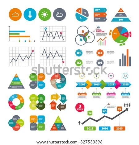 Business Data Pie Charts Graphs Weather Stock Vector HD (Royalty