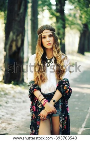 Beautiful Girl Wearing Hat Wallpaper Hippie Stock Photos Royalty Free Images Amp Vectors