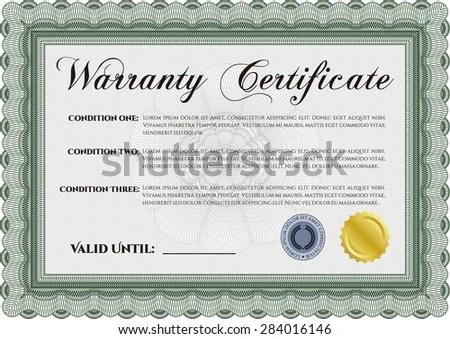 warranty certificate template - Towerssconstruction