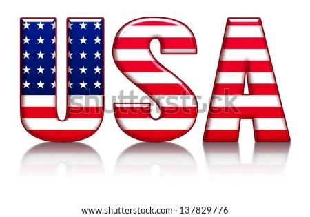 USA Letters Word Flag Background Stock Illustration 137829776 - word flag