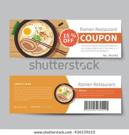 Food Voucher Template Gift Voucher Template With Premium Pattern Food  Voucher Template .