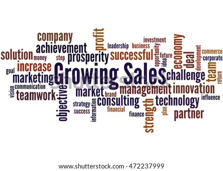 Growing Sales Word Cloud Concept On Stock Illustration 472237999 - sales word