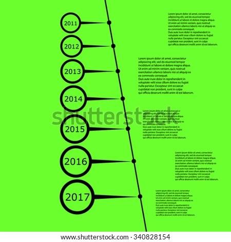 Timeline Simple Design Template Vector Stock Vector 210430708 - simple timeline template