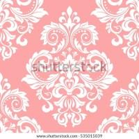 Floral Pattern Wallpaper Baroque Damask Seamless Stock ...
