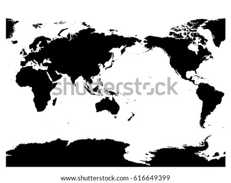 Australia Pacific Ocean Centered World Map Stock Vector (2018
