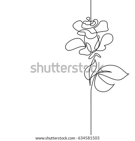 Continuous One Line Drawing Flying Bird Stock Vector (Royalty Free - line drawing