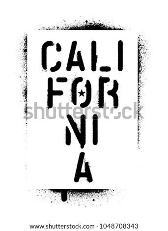 Spray Paint Graffiti Stencil California Stock Vector (Royalty Free