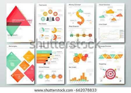 Futuristic Infographic Brochure Template Pages Diagrams Stock Photo - line graphs template