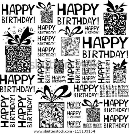 Happy Birthday Background Black And White