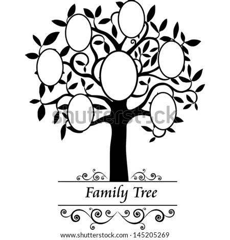 Family Tree Frames Empty Your Input Stock Illustration 145205269