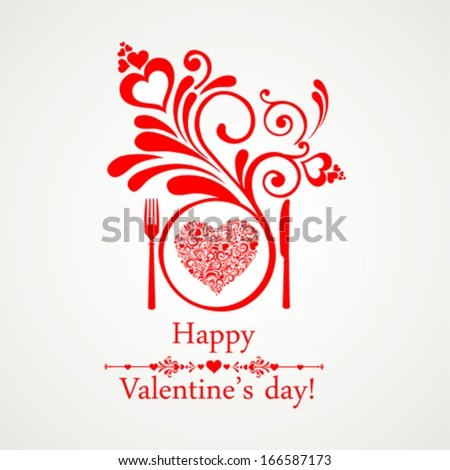 Happy Valentines Day Restaurant Menu Card Stock Photo (Photo, Vector - valentines day menu template