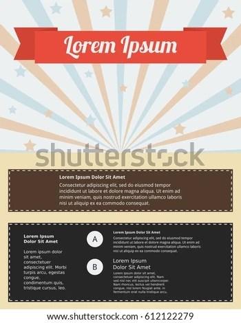 Editable Poster Template Retro Style Stock Vector 612122279