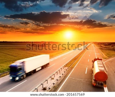 Two Trucks Motion Blur On Highway Stock Photo 201657569 - Shutterstock