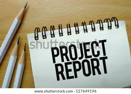 Project Report Text Written On Notebook Stock Photo (Edit Now - project report