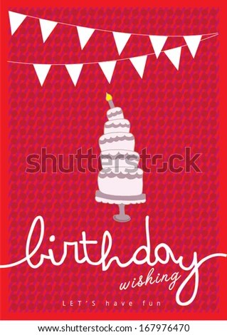 Happy Birthday Poster Template Vectorillustration Layout Stock - birthday card layout