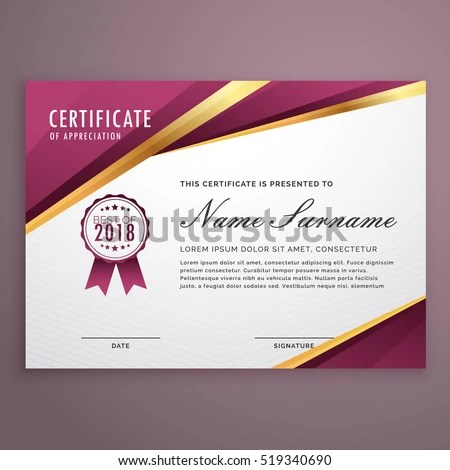 Modern Certificate Design Template Timer For 3 Minutes Template