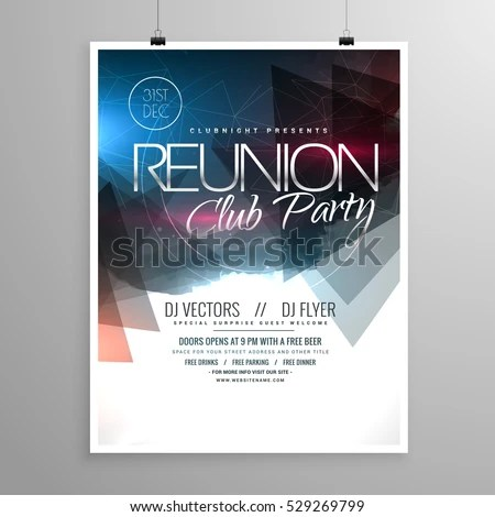 Event Club Party Flyer Template Brochure Stock Photo (Photo, Vector - party brochure template
