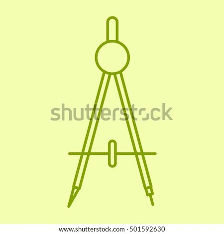 for office school divider vector outline icon stationery tools officefor school stock