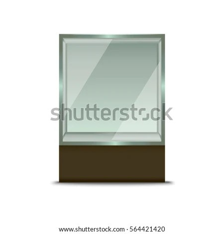 Realistic Empty Glass Shop Window Fashion Stock Photo (Photo, Vector - presentation cover with window